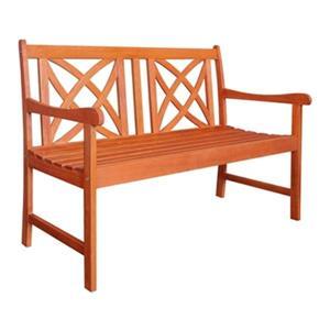 Vifah Malibu 4-Ft Wood Outdoor Garden Bench