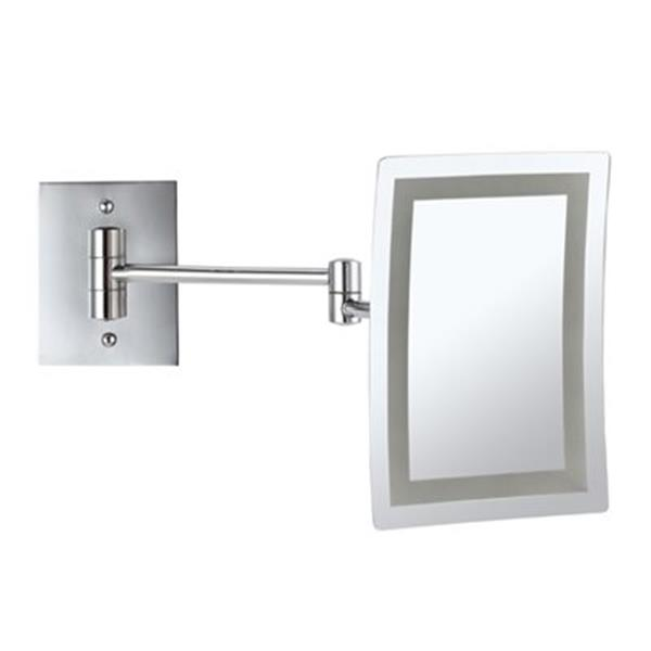 Nameeks Glimmer Chrome LED Light Wall Mounted Make-Up Mirror