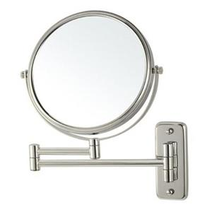 Nameeks Glimmer 8-in x 8-in Satin Nickel Wall Mounted Make-Up Mirror