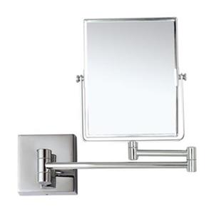 Nameeks Glimmer 8.5-in x 6.3-in Chrome Wall Mounted Double Face Make-Up Mirror