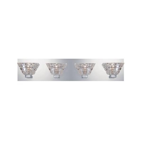 Eurofase Zilli Chrome 4-Light Bathroom Vanity Light