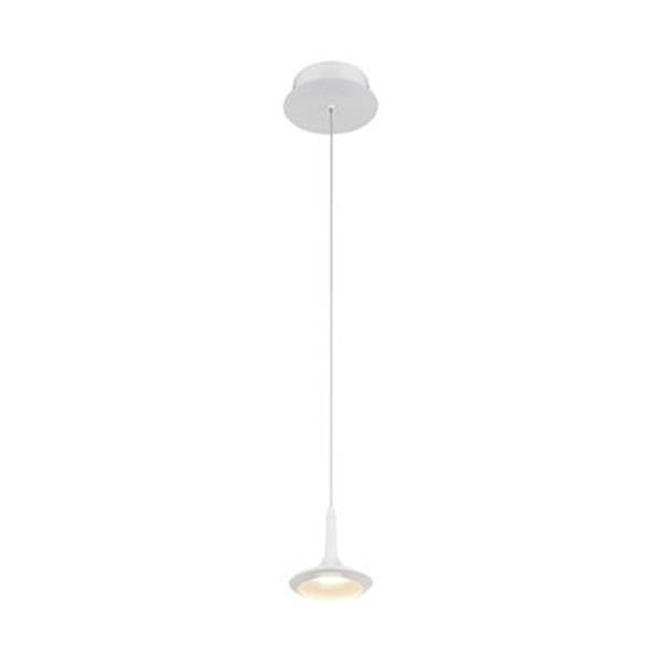 Eurofase Knoll Collection 5-in x 5-in Matte White Mini LED Pendant Light
