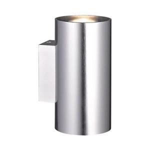 Eurofase Rotondo 2-Light Brushed Aluminium Outdoor LED Sconce