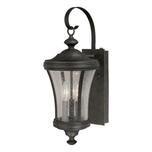Cascadia Hanover 3-Light Dusk to Dawn Bronze Outdoor Wall Lantern