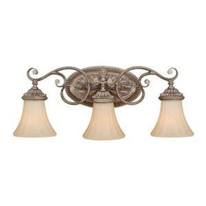 Cascadia Avenant 3-Light Bronze Bathroom Vanity Fixture