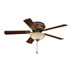 Cascadia Lighting Expo 42-in Distressed Pine/White Flushmount Ceiling Fan