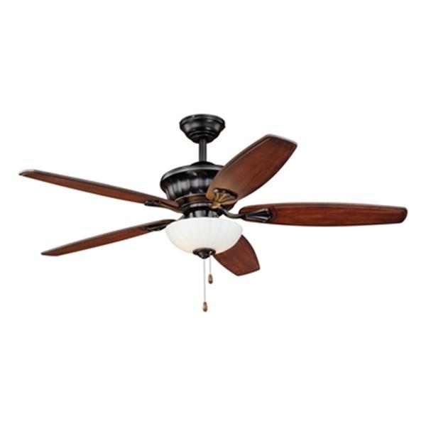 Cascadia Lighting Vasari 52-in Dark Cherry Ceiling Fan