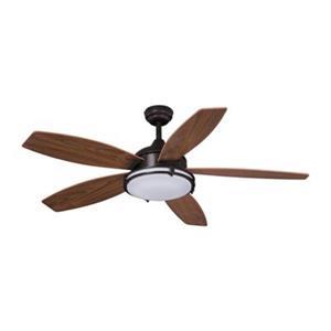 Cascadia Lighting Tali 52-in Walnut Ceiling Fan