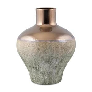 IMAX Worldwide Hargrove 17-in Gold Small Metallic Top Vase