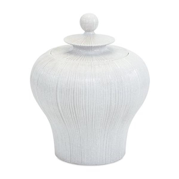 IMAX Worldwide 16.75-in Ceramic Lexyn Lidded Urn