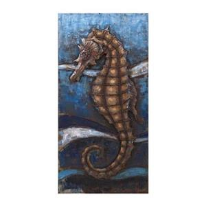 IMAX Worldwide 47.25-in x 23.75-in Seahorse Dimensional Wall Decor