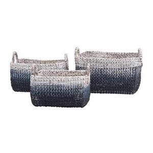 IMAX Worldwide Cascade Woven Water Hyacinth Basket (Set of 3)