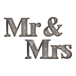 IMAX Worldwide Mr & Mrs Lighted Sign (Set of 3)