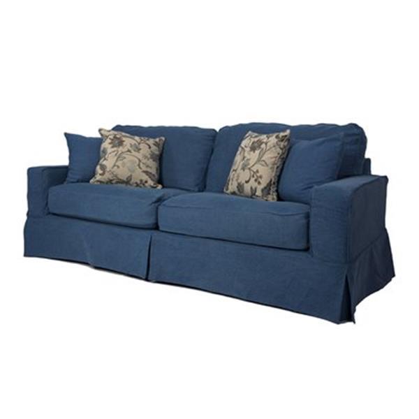 Sunset Trading Americana Blue Sofa Slipcover Set