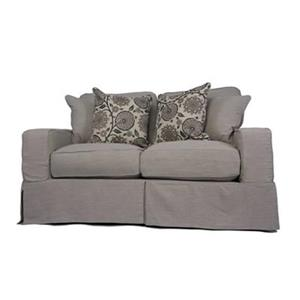 Sunset Trading Americana Gray Slipcover for Box Cushion, Track Arm Loveseat