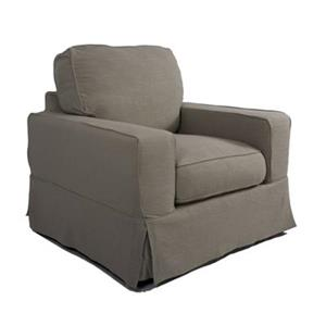 Sunset Trading Americana Gray Slipcover for Box Cushion, Track Arm Chair