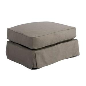 Sunset Trading Americana Gray Ottoman Slipcover Set