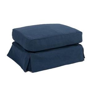Sunset Trading Americana Blue Slipcover for Rectangular Ottoman