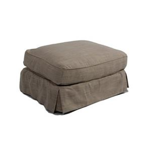 Sunset Trading Americana Brown Ottoman Slipcover Set