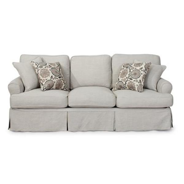Sunset Trading Horizon Gray Slipcover, Light Grey Sofa Slipcover