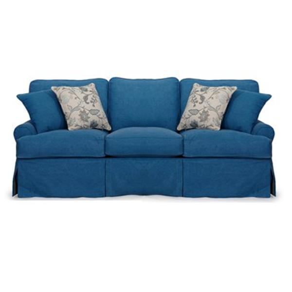 Sunset Trading Horizon Blue Slipcover for T-Cushion Sofa