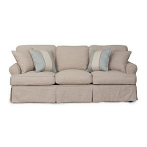 Sunset Trading Horizon Tan Linen Slipcover for T-Cushion Sofa