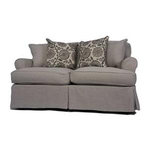Sunset Trading Horizon Gray Loveseat Slipcover Set