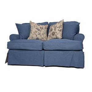 Sunset Trading Horizon Blue Slipcover for T-Cushion Loveseat
