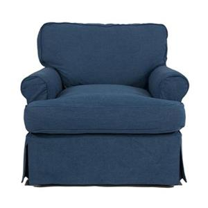 Sunset Trading Horizon Blue Slipcover for T-Cushion Club Chair