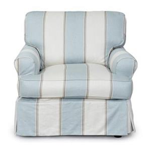 Sunset Trading Horizon Beach House Blue Chair Slipcover Set