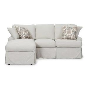 Sunset Trading Horizon Gray Slipcover for T-Cushion Sofa with Chaise