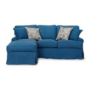 Sunset Trading Horizon Blue Sleeper Sectional Slipcover Set