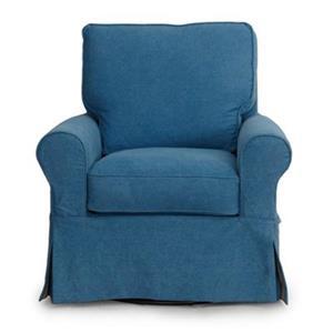 Sunset Trading Horizon Blue Slipcover for Box Cushion Club Chair