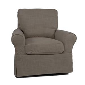 Sunset Trading Horizon Tan Linen Slipcover for Box Cushion Club Chair