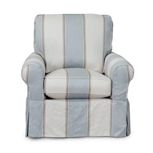 Sunset Trading Horizon Blue Slipcover for Box Cushion Club Chair