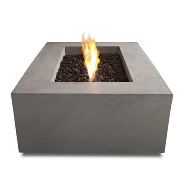 Real Flame Baltic Rectangle Propane Fire Table in Glacier Gr