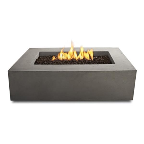 "Baltic Rectangular Natural Gas Fire Table- 50""- Glacier Gray"
