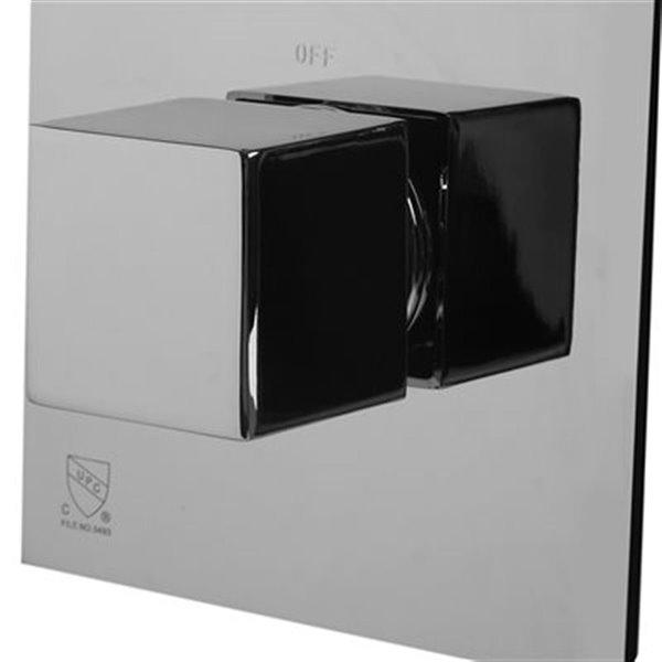 ALFI Brand 3-Way Thermostatic Valve Shower Mixer,AB2901-PC
