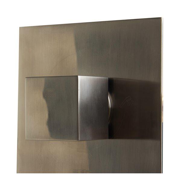 ALFI Brand 3-Way Thermostatic Valve Shower Mixer,AB2901-BN
