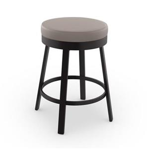 Amisco Clock 26-in Swivel Bar Stool
