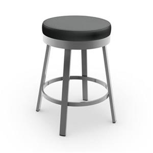 Amisco Clock 30-in Swivel Bar Stool
