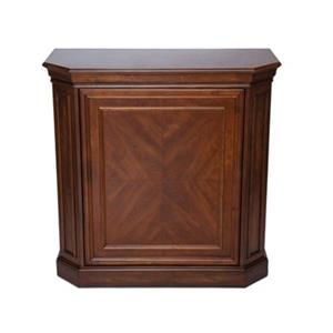 RAM Game Room Black Bar Cabinet With Spindle
