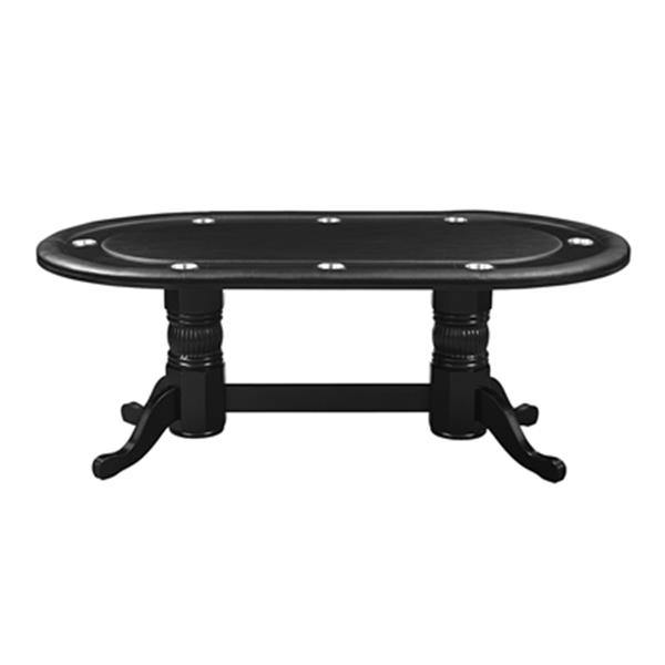 RAM Game Room Products 84-in x 48-in x 30-in Black Oval Texas Hold'Em Game Table