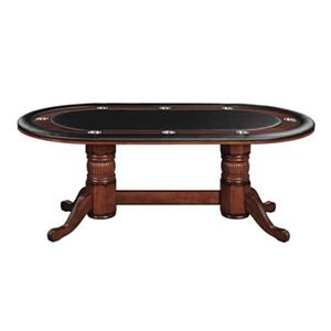 RAM Game Room Products 84-in x 48-in x 30-in Chestnut Oval Texas Hold'Em Game Table.