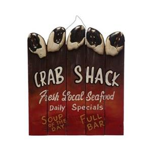 RAM Game Room 18-in x 15.50-in Crab Shack Sign