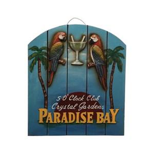 RAM Game Room Products 18-in x 15.50-in Paradise Bay Sign
