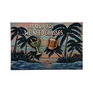 RAM Game Room 12.50-in x 19-in At Our Age We Need Glasses Sign