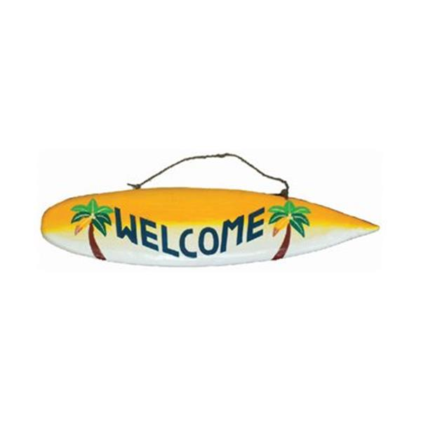 RAM Game Room Products 40-in Welcome Surfboard Sign