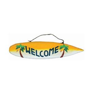 RAM Game Room 40-in Welcome Surfboard Sign