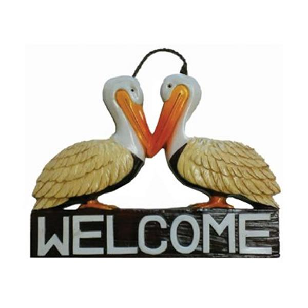 RAM Game Room Products 13.50-in x 18.50-in Pelicans Welcome Sign